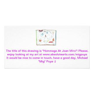 Hommage chez Joan Miro Cartes De Vœux Avec Photo