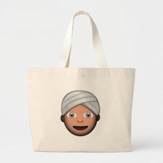 Homme avec le turban Emoji Grand Sac