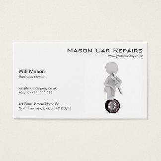 Homme blanc, carte de visite de mécanicien