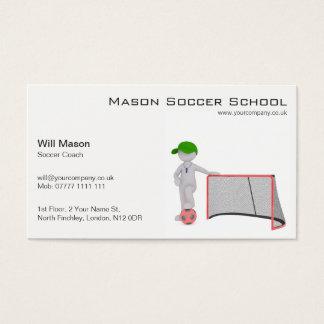 Homme blanc, carte de visite d'entraîneur du