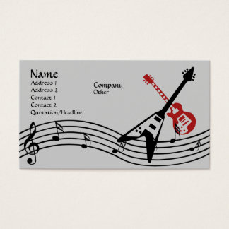 Homme de musique cartes de visite
