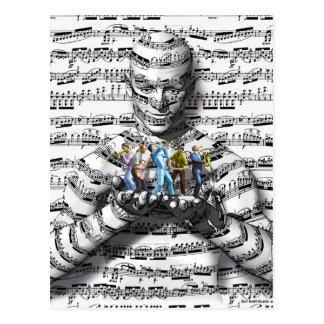 Homme de musique cartes postales
