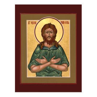 Homme de St Alexis de carte de prière de Dieu