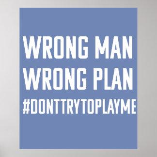 Homme faux ; Affiche fausse de plan Poster