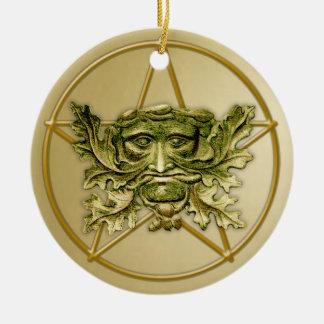 Homme vert et pentagone étoilé #2 - ornement