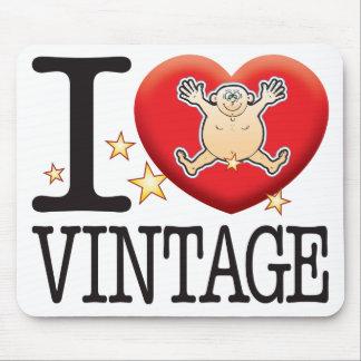 Homme vintage d'amour tapis de souris