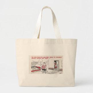 Homme vintage grillant l'humour de nourriture sac en toile jumbo