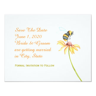 Hommel Daisy Watercolor Save The Date Kaart