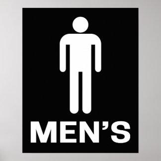 Posters toilette hommes for Salle de bain homme