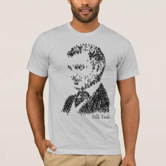 Hommes en soie de commerçant t-shirt
