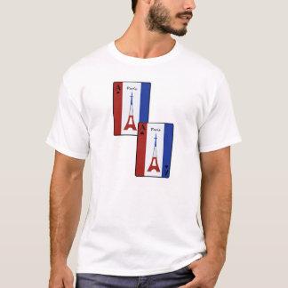 Hommes et femmes de cartes de jeu de Paris T-shirt