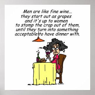 Hommes et humour de vin fin