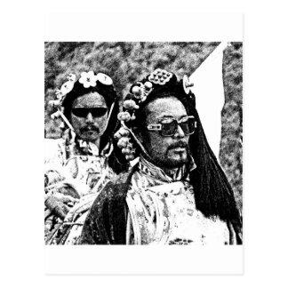 Hommes tibétains carte postale