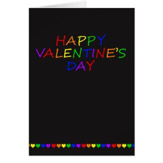 Homosexuel Valentine de typographie et de coeur Carte De Vœux
