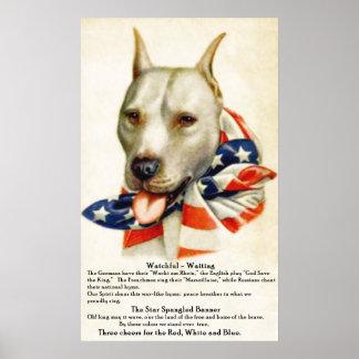 Hond 2 van de Stier van de Kuil van de Banner van  Poster