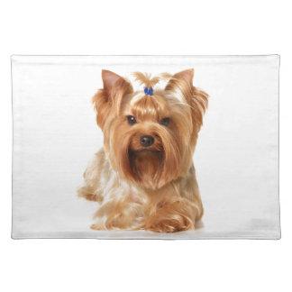 Hond met haarspeld placemat