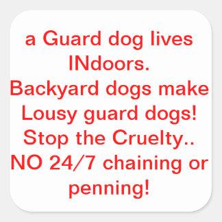 Honden van de Wacht van de binnenplaats de Vierkante Sticker