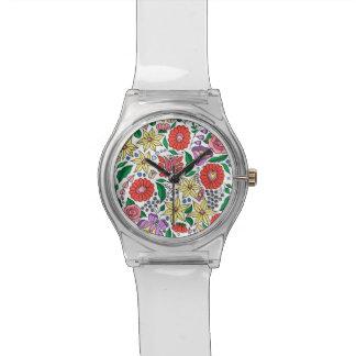 Hongaars borduurwerk geïnspireerd horloge
