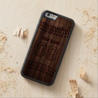 Honkbal Nummer 9 met Uw Naam - Houten Sportief Walnoot iPhone 6 Bumper Hoesje