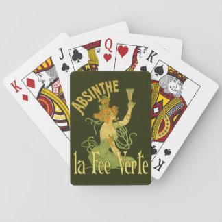 Honoraires féeriques verts Verte, affiche Jeux De Cartes