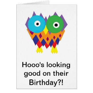 Hooo semblant bon sur leur anniversaire ? ! carte de vœux