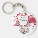 Hoppens magique Keychains personnalisé mignon