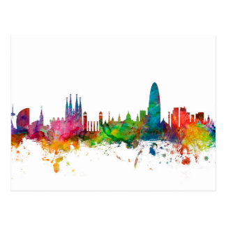 Horizon de Barcelone Espagne Cartes Postales