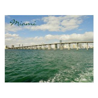 Horizon de Miami par la chaussée de Rickenbacker Carte Postale