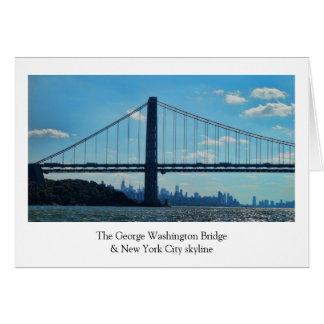Horizon de New York City, pont de George Carte