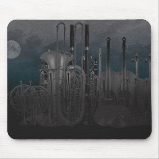 Horizon de nuit d'instrument d'orchestre tapis de souris