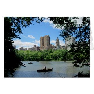 Horizon de NYC photographié du Central Park Carte