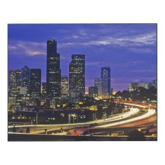 Horizon de Seattle, Washington la nuit