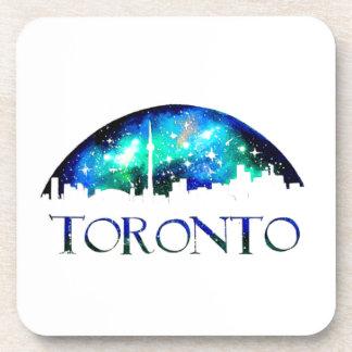 Horizon de ville de Toronto la nuit Dessous-de-verre