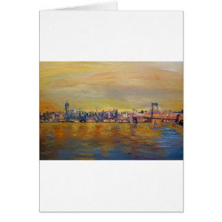 Horizon d'or de Manhattan avec un cent commercial Carte