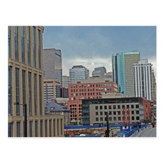 Horizon du centre de Denver le Colorado Carte Postale