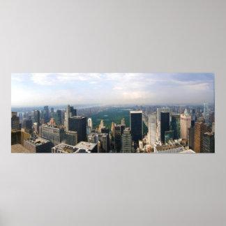 "Horizon panoramique 19"" de New York City x 13"""
