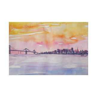 Horizon San Francisco de région de baie avec le Toile