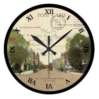 Horloge 1924 de carte postale de Lancaster Ohio