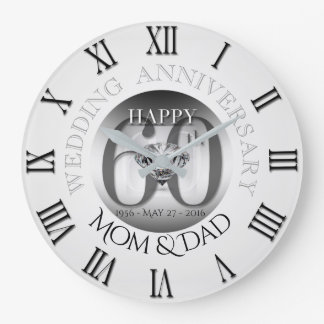 Horloge B N romain de l'anniversaire de mariage de