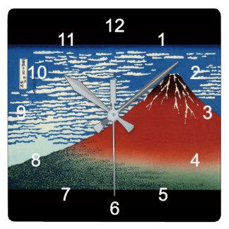 Horloge Carrée 葛飾北斎 , Hokusai