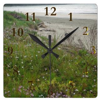 Horloge Carrée aotearoa de la Nouvelle Zélande de plage