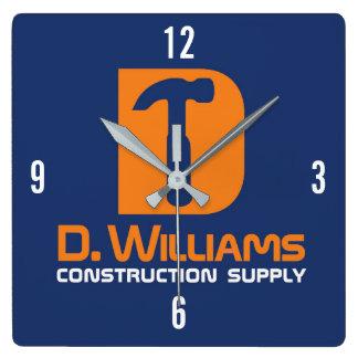 Horloge Carrée Approvisionnement de construction de D Williams