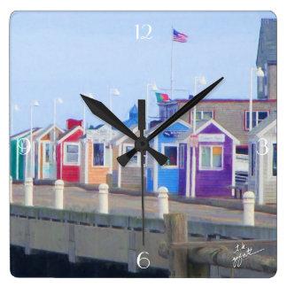 Horloge Carrée Artistique unique de cabines de P-Ville