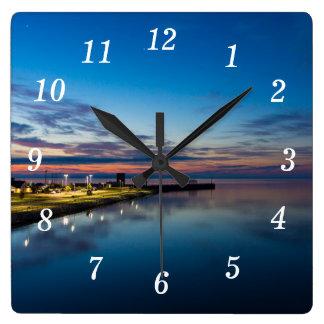 Horloge Carrée Aube de ville de Mackinaw