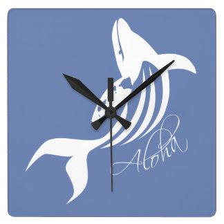 Horloge Carrée Baleine d'Hawaï
