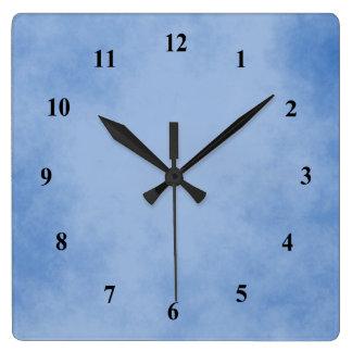 Horloge Carrée Beau bleu