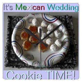 Horloge Carrée Biscuits mexicains de mariage
