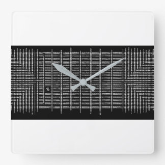 Horloge Carrée black tear