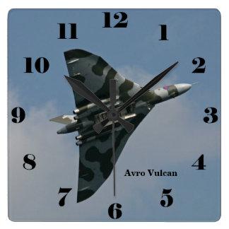 Horloge Carrée Bombardier d'aile delta d'Avro Vulcan tous les