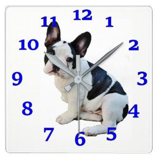 Horloge Carrée Boston Terrier